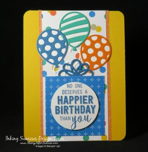 Stampin' Up! Party Animal Stamp Set; Balloon Pop-Up Thinlits Dies, Party Animal DSP, Birthday cards, DYI, Die Cuts, Embellishments, #StampAfterSunrise