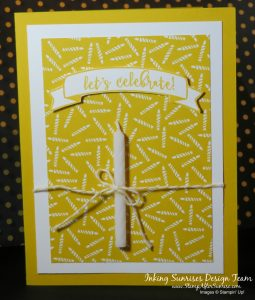 Stampin Up!, Party Animal Stamps, Real Candle, Birthday Card Idea,#StampAfterSunrise