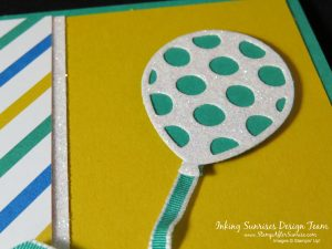 StampinUp!, Party Animal Suite, Easy, Balloon Pop-Up Thinlits, Birthday Card Idea,#StampAfterSunrise