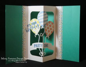 Stampin' Up!, Party Animal Stamps, Pop Up Thinlits, Party Animal Designer Series Paper, Wow Card, Birthday Ideas, #StampAfterSunrise