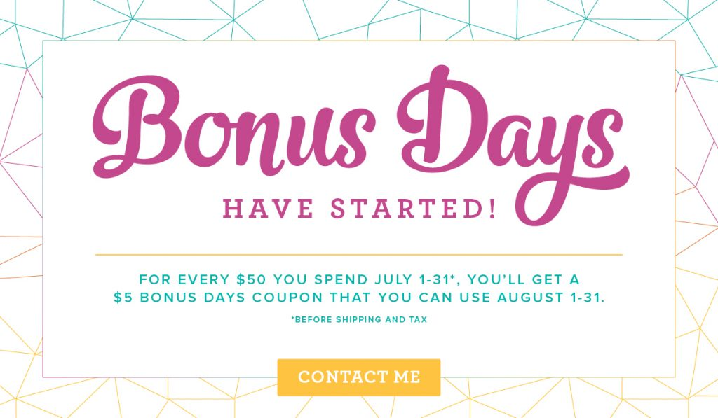 Bonus Days, #StampAfterSunrise, Buy Now Save in August