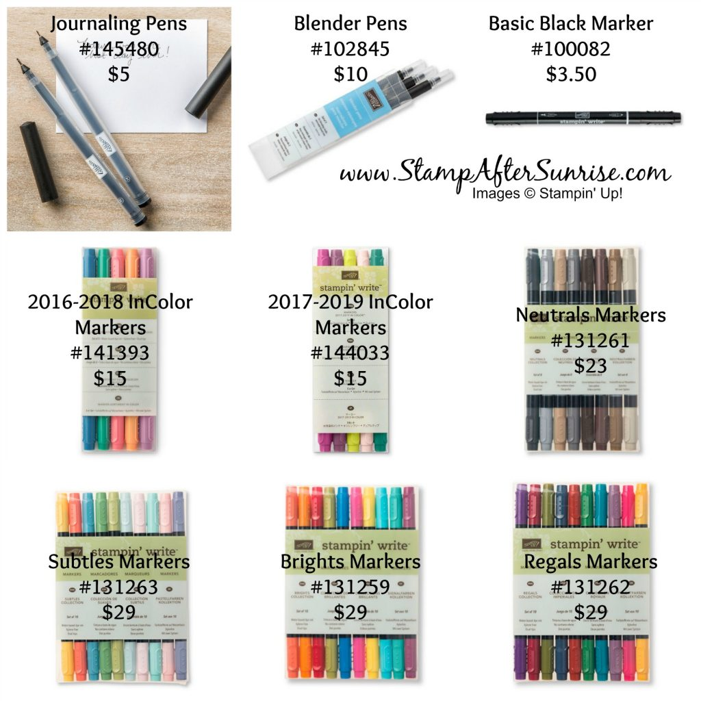 StampinUp-TN-Tax-Free-Weekend-2017-Pens-Markers-#StampAfterSunrise