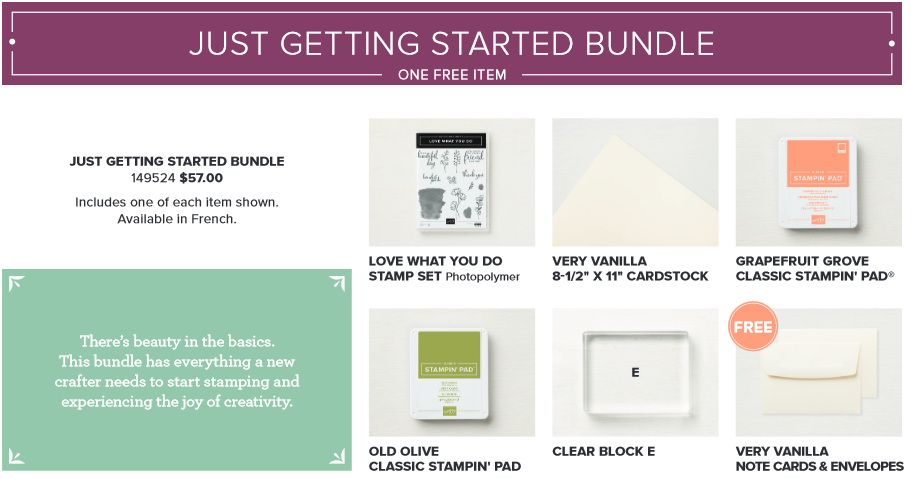 Share-What-You-Love,Just-Getting-Started-Bundle,Love-What-You-Do,Free-Note-Cards